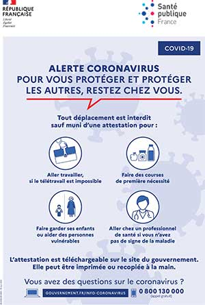 informations coronavirus confinement