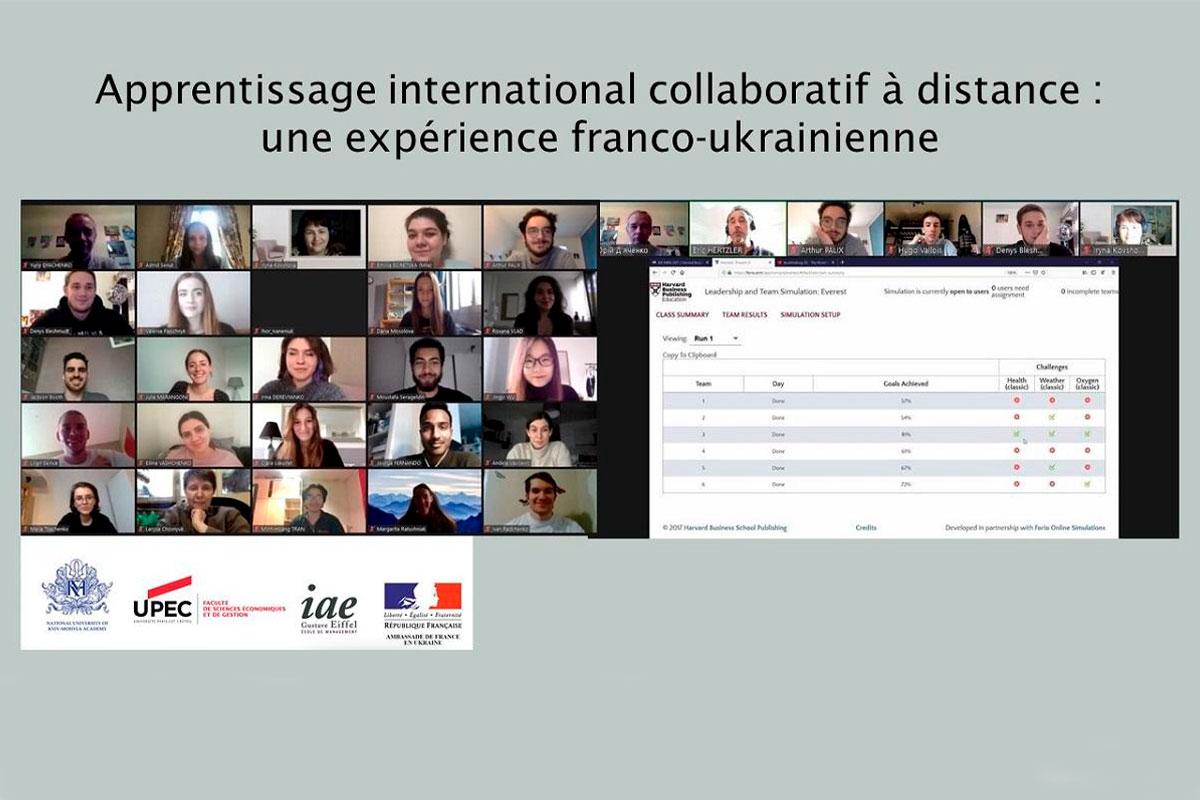 Apprentissage international collaboratif à distance : une expérience franco-ukrainienne