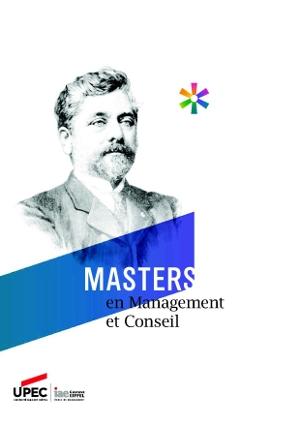 Master IAE mention management et conseil : plaquette de présentation