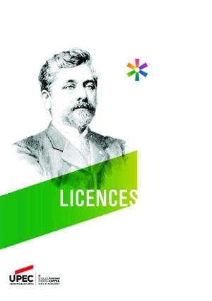 Licence IAE : plaquette de présentation